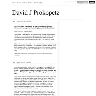 ArchiveBay.com - prokopetz.tumblr.com - David J Prokopetz