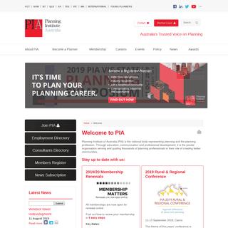 Welcome - Planning Institute of Australia