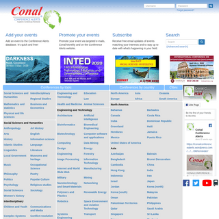 Academic Events Worldwide - Conal Conference Alerts
