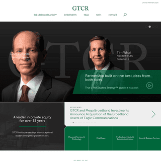 GTCR Private Equity - Chicago Based Private Equity Firm - The Leaders Strategy