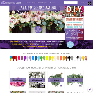 ArchiveBay.com - petaldriven.com - Save Thousands on Farm Direct Flowers Shipped Directly To Your Door!