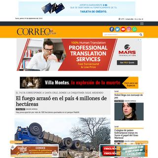Diario Correo del Sur- Noticias de Sucre, Bolivia y el Mundo