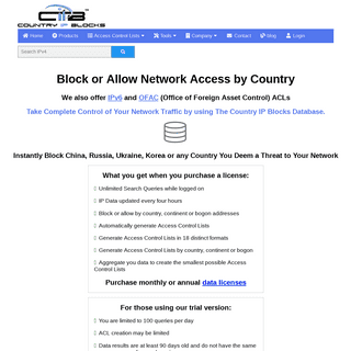Block a country with our geolocation data