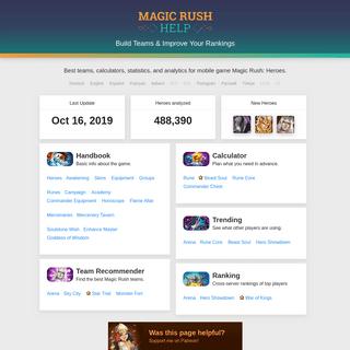 Build Teams & Improve Your Rankings - Magic Rush Help.me