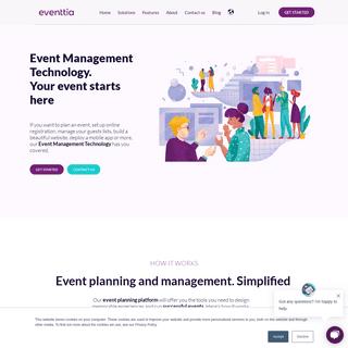 Event Management Technology - Easy to use event Platform - EVENTTIA