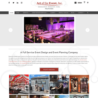 Event Planning, Design & Production in Wilmington, MA - Art of The Event, Inc