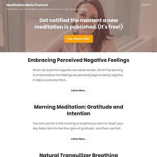 Meditation Minis Podcast - Feel Better Fast with the Best Guided Meditations for Anxiety, Stress, and Sleep