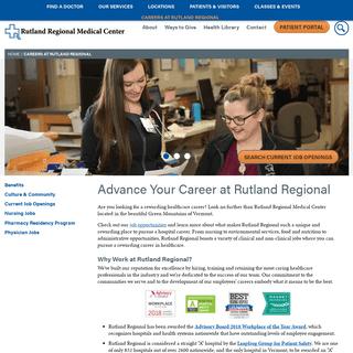 Careers at Rutland Regional Medical Center