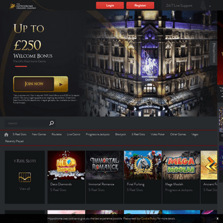 Hippodrome Casino Online - Up to £250 Welcome Bonus
