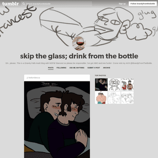 skip the glass; drink from the bottle