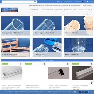 Reagenzgläser mit Korken Reagenzglasständer Reagenzglas kaufen - Laborglasshop.de