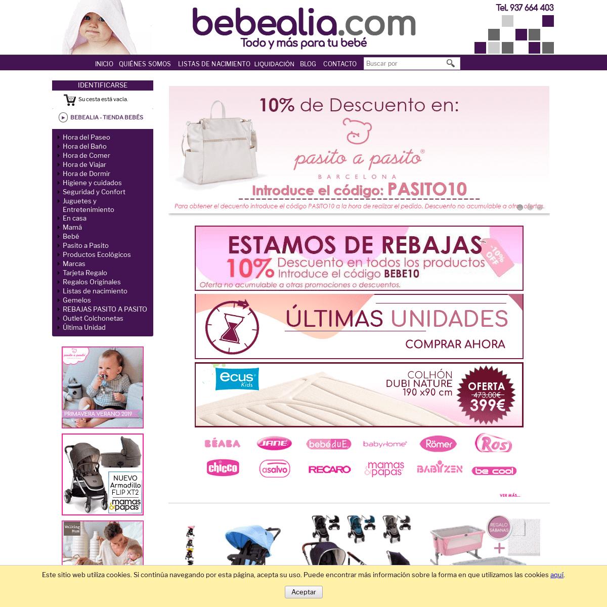 Tienda bebés Bebealia