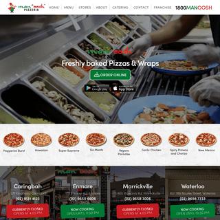 Lebanese Pizza Takeaway & Delivery Sydney - Manoosh Pizzeria