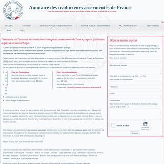 Annuaire des traducteurs assermentés de France