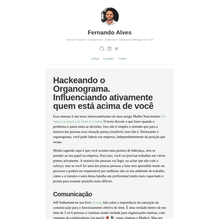 Fernando Alves - Software Engineer - Entrepreneur - Pythonista - Engineering Manager @ Cobli