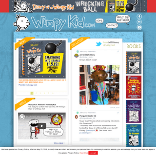 Wimpy Kid - The official website for Jeff Kinney's Diary of a Wimpy Kid book series