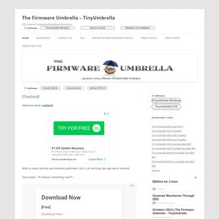 ArchiveBay.com - firmwareumbrella.com - The Firmware Umbrella – TinyUmbrella - iOS, Android, hacking-jailbreaking information