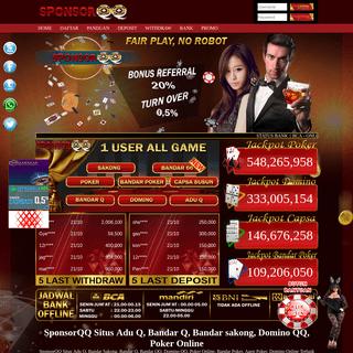 Adu Q, Bandar Q, Bandar sakong, Domino QQ, Poker Online, bandar66