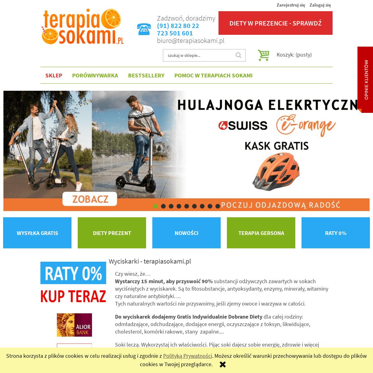 Wyciskarki do owoców, warzyw i ziół - Terapiasokami.pl