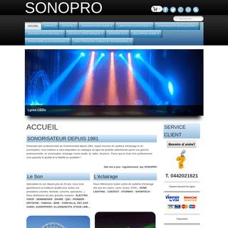 ArchiveBay.com - sonopro.com - SONOPRO - ACCUEIL - SONORISATION SONO ECLAIRAGE DJ STUDIO - VENTE-ACHAT, INSTALLATION, LOCATION, PRESTATION SON ET LUMIERE - PLA
