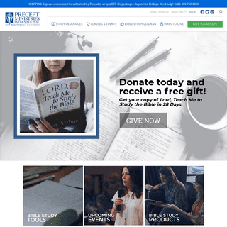 Precept Ministries - Home Page - Precept Ministries International
