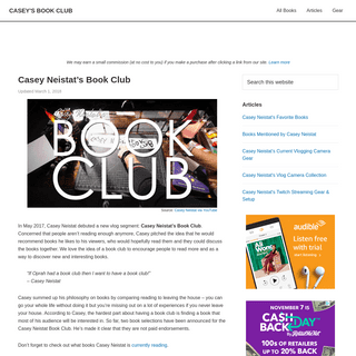 Casey Neistat's Book Club