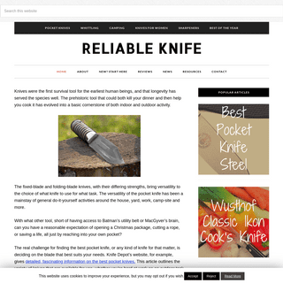 Reliable Knife - The #1 Online Resource for Knife Reviews!