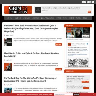 ArchiveBay.com - grimandperilous.com - Grim & Perilous Studios – Tabletop RPGs Powered by ZWEIHÄNDER d100 game engine