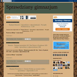 ArchiveBay.com - gotowe-testy.blogspot.com - Sprawdziany gimnazjum