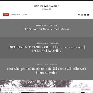 Fitness Motivation – by Tarun Gill