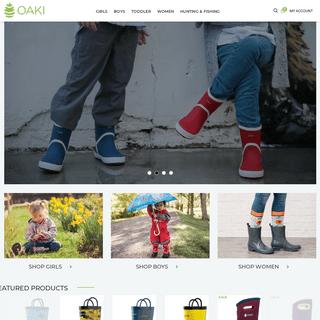 OAKI - Kid's Rain Gear - Kid's Waders - Women's Rain Boots