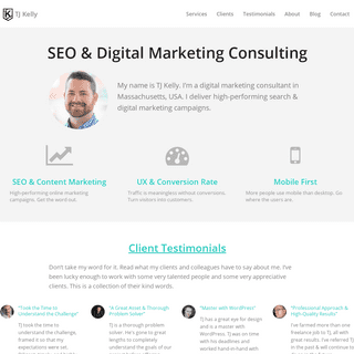 TJ Kelly - SEO & Online Marketing Consulting - North Andover, MA