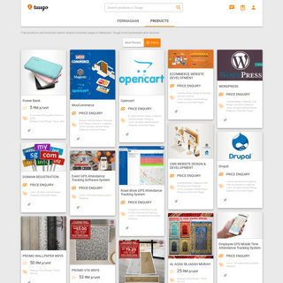 Free products and business search engine, business pages in Malaysia - Tuugo local businesses and services