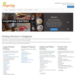 One Stop Printing Services Singapore - Imprint Media Singapore