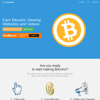 CoinAdder.com - #1 Bitcoin PTC site to Earn BTC Viewing Ads