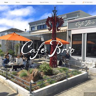Cafe Brio – On the Plaza in Arcata