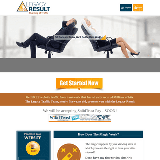 Legacy Result - Increase Web Traffic - Free Web Traffic