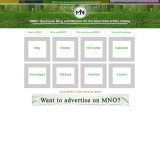 Exclusive Blog and Monitor for the Most Elite HYIPs Online - MNO Home Page