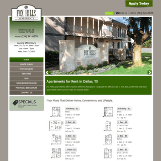 Welcome To Fox Hills Apartments In Dallas, Texas!
