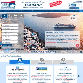 American Discount Cruises & Travel - Cruise Deals, Discount Cruises, Cheap Cruises, and more