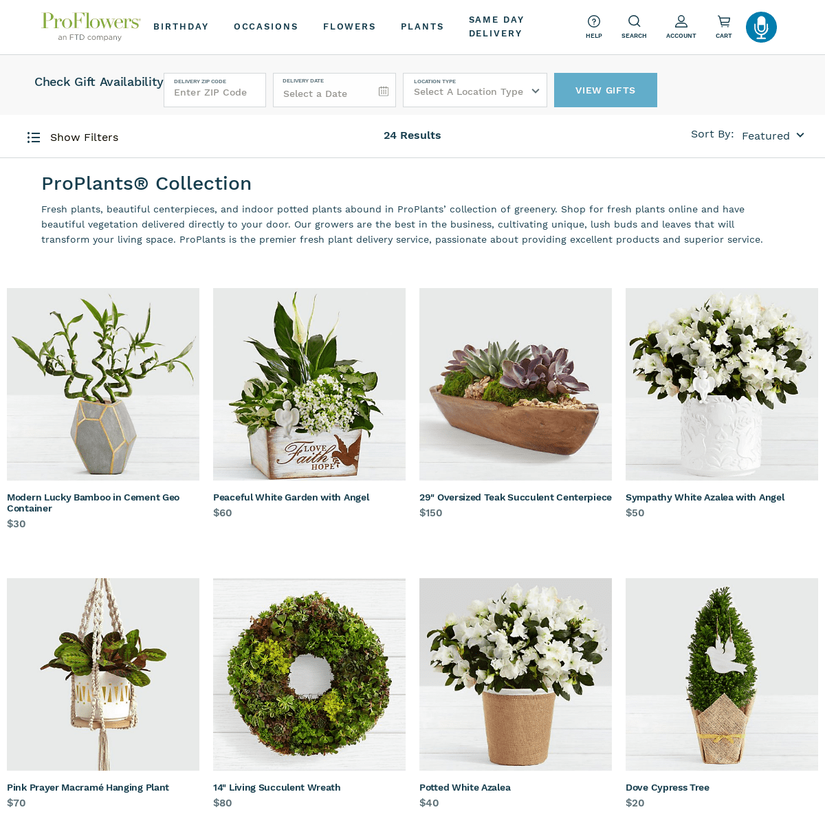 ProPlants Delivery on ProFlowers