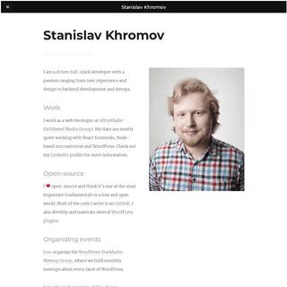 Stanislav Khromov - Full-stack web developer