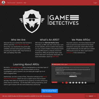 Game Detectives - Homepage
