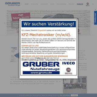 GRUBER Nutzfahrzeuge GmbH - Die Komplettlösung für den Nutzfahrzeugbereich - GRUBER Nutzfahrzeuge GmbH - Die Komplettlösung f