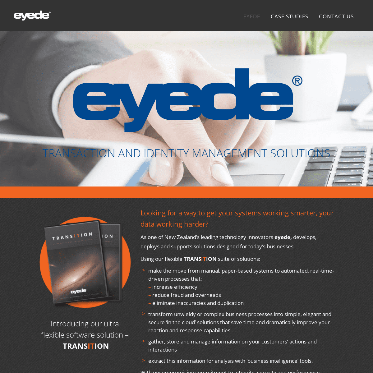 Eyede - Transaction and Identity Management Solutions