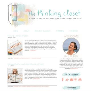 the thinking closet - let your creativity splish, splash, & spill