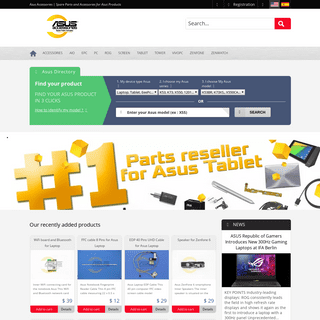 Asus Accessories - Spare Parts and Accessories for Asus Products