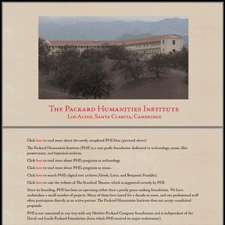 Packard Humanities Institute