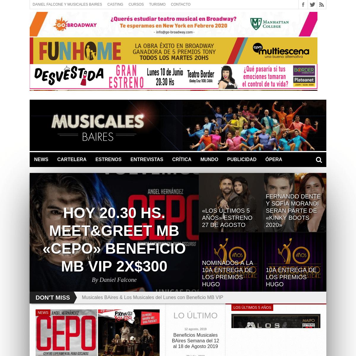 ArchiveBay.com - musicalesbaires.com.ar - Musicales Baires – Tu sitio de Musicales en Buenos Aires y el Mundo