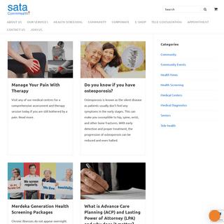 SATA CommHealth - Promoting lifelong health.